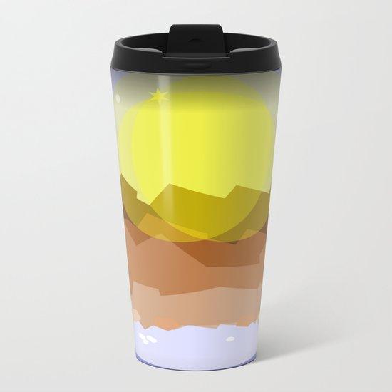 Midnight magical mountain Metal Travel Mug
