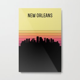 New Orleans Skyline Metal Print