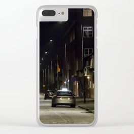 Sleepless nights Clear iPhone Case