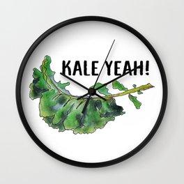 Kale Yeah! Wall Clock