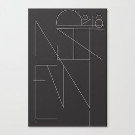 New Year Typo Black #society6 #decor #buyart Canvas Print
