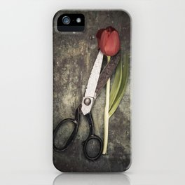 Tulip and scissors II iPhone Case