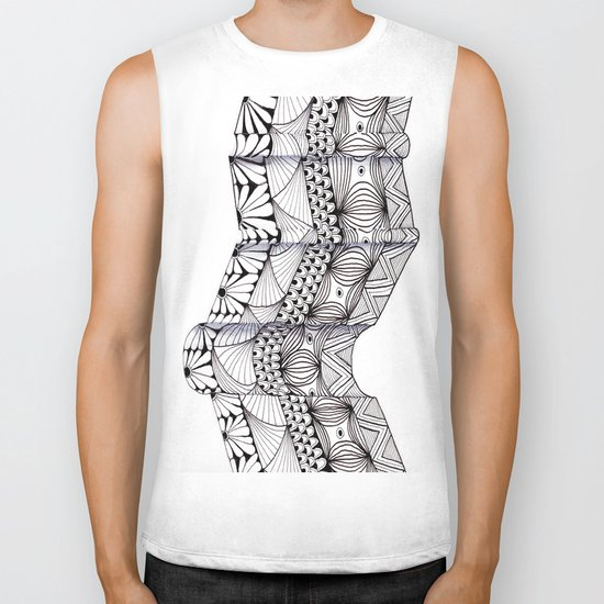 Zentangle Architectural Molding Biker Tank