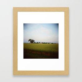Midwest Field 01, Holga Framed Art Print