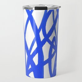 Blue leaves with red berries Travel Mug