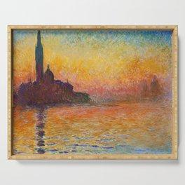 Claude Monet – Saint georges majeur au crépuscule San Giorgio Maggiore by Twilight Serving Tray