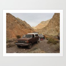 Echo Canyon - Death Valley  Art Print