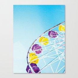 Vintage Santa Monica Ferris Wheel Canvas Print
