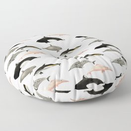 Dolphins and porpoises Floor Pillow