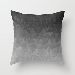 Black and Grey Ombre Throw Pillow