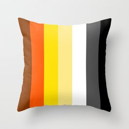 Gay Bear Flag LGBT GAY PRIDE SEASON OSOS Throw Pillow