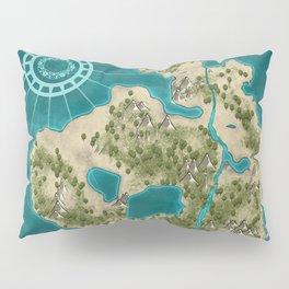 Pirate Adventure Map Pillow Sham