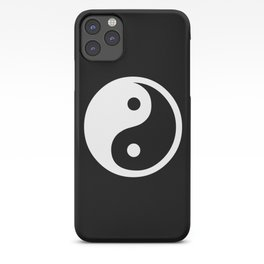 Yin Yang Black And White iPhone Case