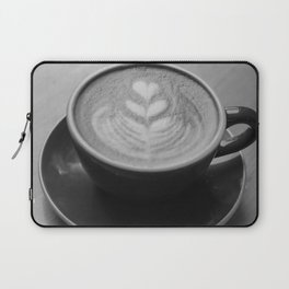 Cafe Heart - Black and White Laptop Sleeve