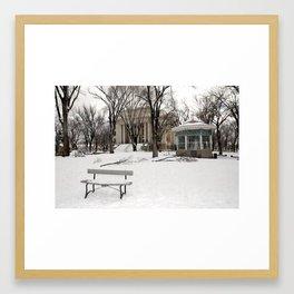 Winter time - Courthouse in Prescott AZ - Wiskey Row Framed Art Print