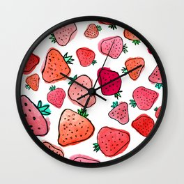 Strawberry Pattern Wall Clock