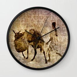 island tapestry Wall Clock