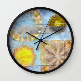 Hurtles Content Flower  ID:16165-095624-24981 Wall Clock