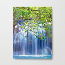 Erawan waterfall Metal Print