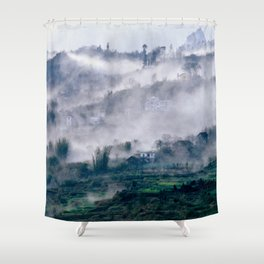 Foggy Mountain of Sa Pa in VIETNAM Shower Curtain