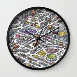 FOOD MAZE Wall Clock