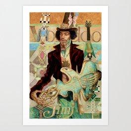 Voodoo Hendrix Art Print