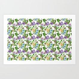 Floral naïf pattern Art Print