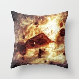And Now... Kiss The Burning Darkness Throw Pillow