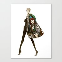 daria Canvas Prints featuring Daria by ginosunscreen