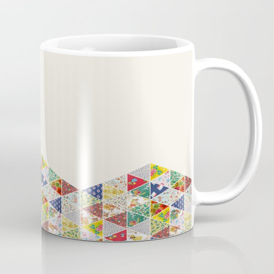 Geometric Floral Quilt Mug