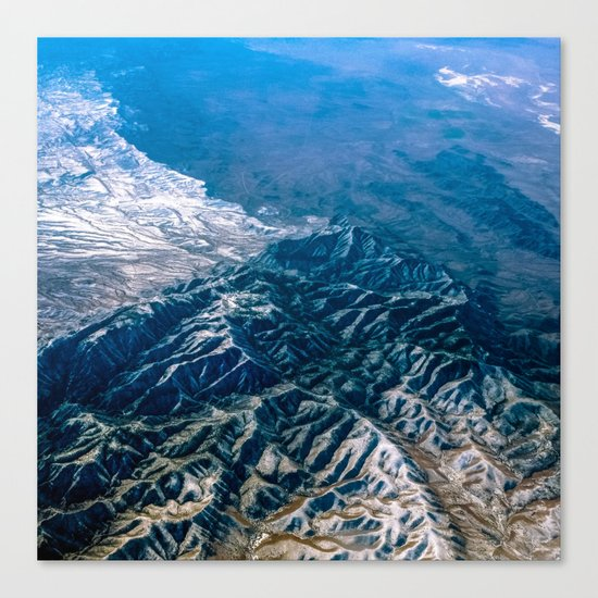 The Mountains Below Canvas Print