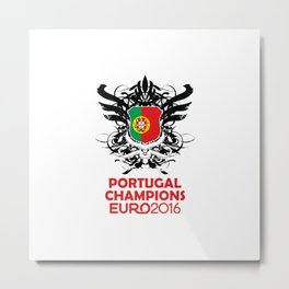 Portugal Champions Uefa Euro 2016 Metal Print