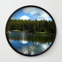 Serenity At West Gull Drive - Yellowstone National Park Wall Clock