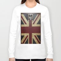 england Long Sleeve T-shirts featuring England Reisen by Fine2art