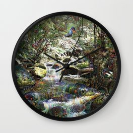 Primordial Brook Wall Clock