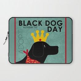 Black Dog Day Royal Crown Laptop Sleeve