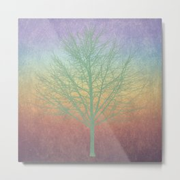 Green grunge tree Metal Print