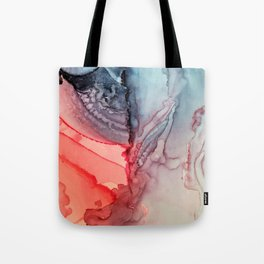 Undertow Meets Lava- Alcohol Ink Painting Tote Bag