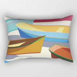 COLORED BOATS Rectangular Pillow