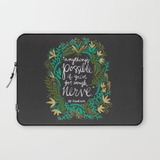 Anything's Possible on Charcoal Laptop Sleeve