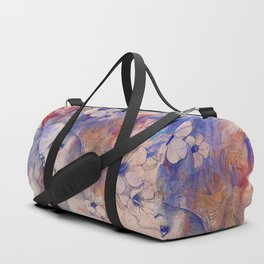 The Lowest Common Denominator: Peach (flower lady portrait drawing) Duffle Bag