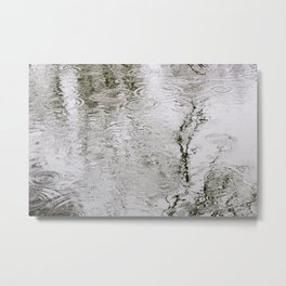 Rain Ripples Metal Print
