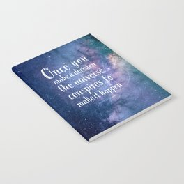 The universe conspires Notebook