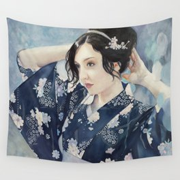 Rainfall - 'In the Garden' Series Wall Tapestry
