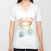 frida V-neck T-shirts featuring Frida  by Aivé Trujillo