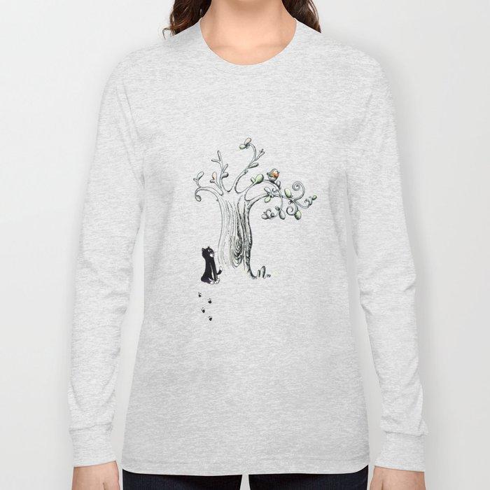 Little Cat and birdy Long Sleeve T-shirt