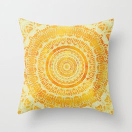 Sun Mandala 4 Throw Pillow