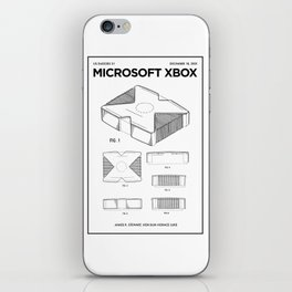 Xbox Poster • Microsoft Gamer Prints • Xbox Patent Printable • Gift For Gamer • Gamer Present iPhone Skin