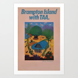 poster Brampton Island Art Print