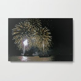 Bright lights on the water Metal Print